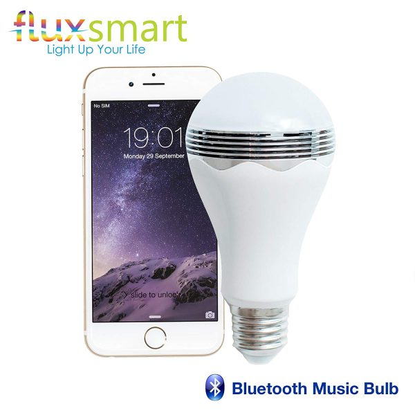 5. Wireless Smart LED Light Bulb With Bluetooth Speaker by Flux