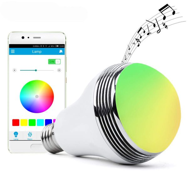 7. Autai LED Light Bulb with Smart Bluetooth Speaker and APP Control RGB Multi Color Changing Dimmable