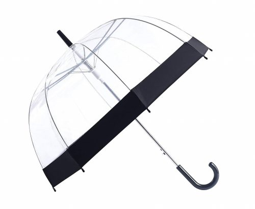 7. Rainbrace Clear Bubble Umbrella Auto Open Upgraded Version with Reinforced Fibergrass Ribs, Transparent Clear Dome Shape for Women and Kids