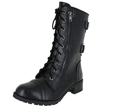 7. SODA WOMENS DOME COMBAT BOOTS