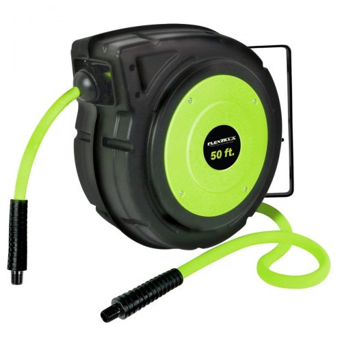 8. Flexzilla Retractable Enclosed Plastic Air Hose Reel