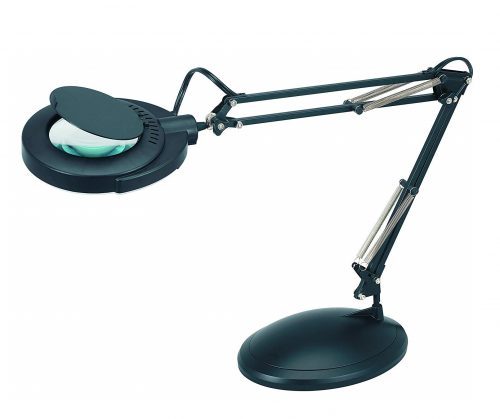 8. Full Spectrum Natural Daylight Effect Magnifier Task Lamp with 3 Diopter Glass Lens and Desktop or Clamp-On Mounting Options