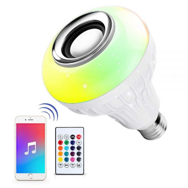 8. Ustellar LED Wireless Light Bulb Speaker, RGB Smart Music Bulb, E26 Base Color Changing with Remote Control for Party