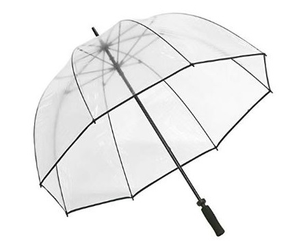 9. Elite Rain Umbrella Golf-Sized Bubble Umbrella - Black Trim