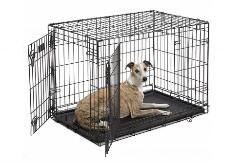 1. MidWest Homes for Pets Dog Crate, iCrate Single Door & Double Door Folding Metal Dog Crates
