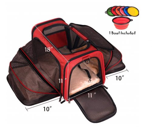 1. Premium Airline Approved Expandable Pet Carrier by Pet Peppy- Two Side Expansion, Designed for Cats