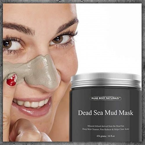1. Pure Body Naturals Dead Sea Mud Mask for Face and Body, Purifying Face Mask for Acne, Blackheads, and Oily Skin, 8.8 Ounce