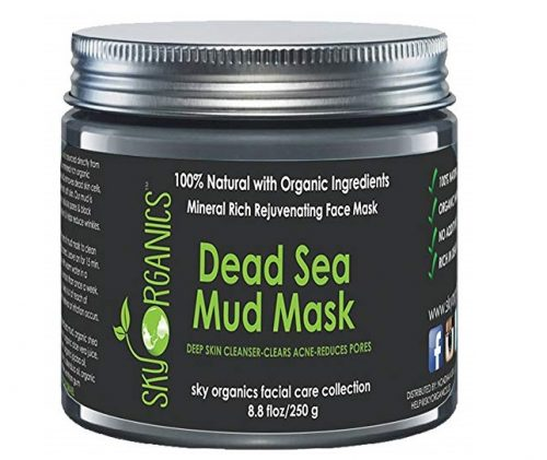10. Dead Sea Mud Mask by Sky Organics For Face, Acne, Oily Skin & Blackheads