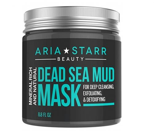 2. Aria Starr Dead Sea Mud Mask For Face, Acne, Oily Skin & Blackheads - Best Facial Pore Minimizer