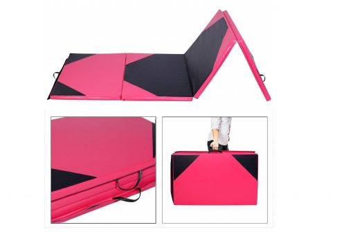 2. Gymnastics Mat Thick Folding Panel for Gym Fitness with Hook & Loop Fasteners