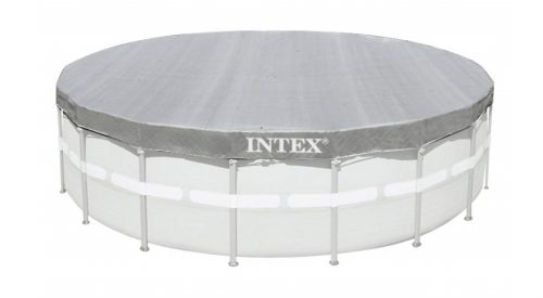 2. Intex Deluxe 18-Foot Round Pool Cover