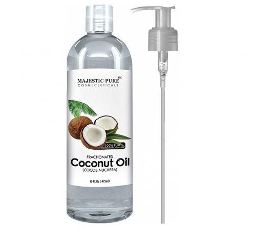 2. Majestic Pure Fractionated Coconut Oil, For Aromatherapy Relaxing Massage, Carrier Oil for Diluting Essential Oils