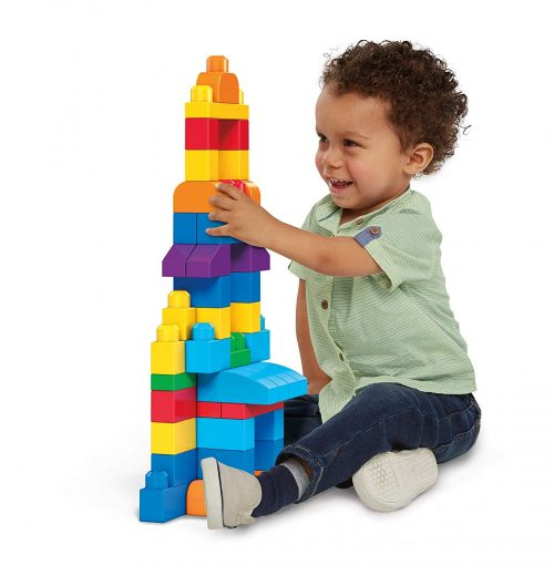 2. Mega Bloks 80-Piece Big Building Bag, Classic