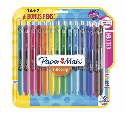 2. Paper Mate InkJoy Gel Pens, Medium Point, Assorted Colors, 16-Count