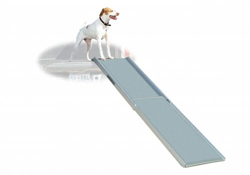 2. Solvit PetSafe Deluxe Extra-Long Telescoping Pet Ramp, Longer Length Dog Ramp for Steep Inclines