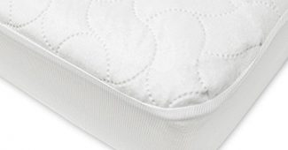 3. American Baby Company Waterproof Fitted Crib and Toddler Protective Mattress Pad Cover, White