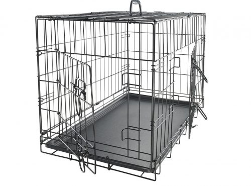 4. Dog Crate Double-Door Folding Metal - 2019 Newly Designed Model