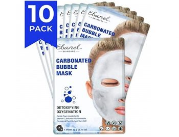 4. Ebanel 10 Sheet Face Bubble Mask, Foaming Carbonated Oxygen Black Facial Masks for Blackheads Pores Dead Skin Cleaning
