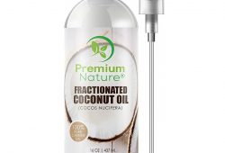 4. Fractionated Coconut Oil Massage Oils - Liquid MCT Natural & Pure Body Oil Carrier Massage Oil for Hair & Skin 16 Oz Clear Pump Included Premium Nature Pac