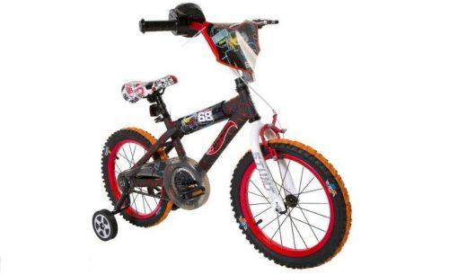 4.Hot Wheels Dynacraft Boys BMX StreetDirt Bike with Hand Brake 16 BlackRedOrange