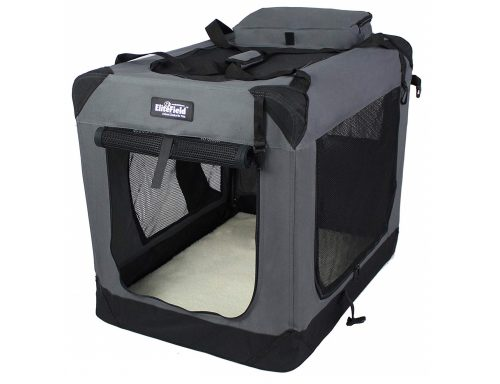 5. EliteField 3-Door Folding Soft Dog Crate, Indoor & Outdoor Pet Home, Multiple Sizes and Colors Available