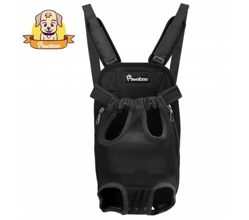 5. PAWABOO Pet Carrier Backpack, Adjustable Pet Front Cat Dog Carrier Backpack Travel Bag, Legs Out, Easy-Fit for Traveling Hiking Camping.