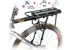 5. West Biking 110Lb Capacity Almost Universal Adjustable Bike Cargo Rack Cycling Equipment Stand Footstock Bicycle Luggage Carrier Racks with Reflective Logo