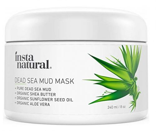 6. InstaNatural Dead Sea Mud Mask - Reduce Facial Pores - Organic for Oily & Acne Prone Skin