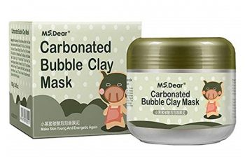 6. MS.DEAR Carbonated Bubble Clay Mask Bubbles Mud Mask Moisturize Deep Cleansing Face Mask 3.52 oz