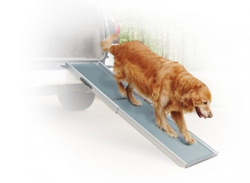 6. PetSafe Solvit Deluxe Telescoping Pet Ramp, Standard, 39 in. - 72 in., Portable Lightweight Aluminum Dog