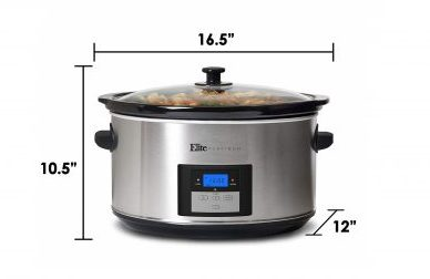 6. Maxi-Matic Elite Platinum Digital Programmable Slow Cooker