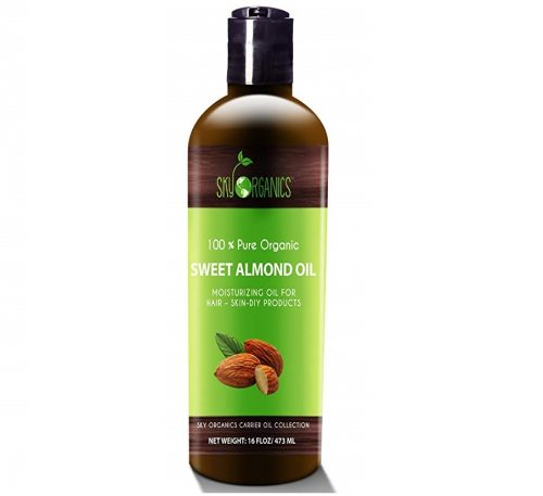 7. Best Sweet Almond Oil by Sky Organics 16oz- 100% Pure, Cold-Pressed, Organic Almond Oil. Great As Baby Oil- Anti- Wrinkles- Anti-Aging. Almond Oil- Carrier