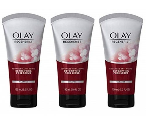 7. Facial Cleanser by Olay Regenerist, Detoxifying Pore Scrub & exfoliator, 5 Ounce (Pack of 3) Packaging may Vary