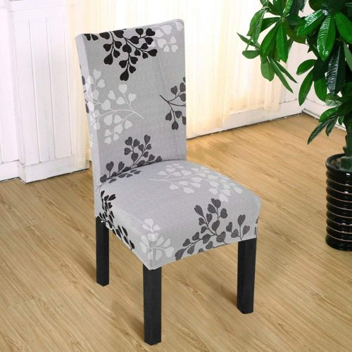 7. Fuloon Super Fit Stretch Removable Washable Short Chair Protector Cover Seat Slipcover for Hotel,Dining Room,Ceremony,Banquet Wedding Party (6