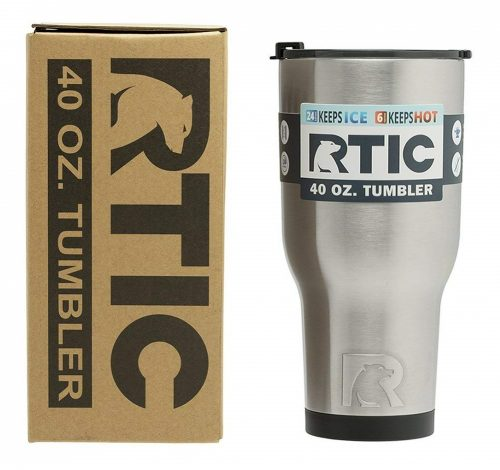 7. RTIC Double Wall Vacuum Insulated Tumbler, 40 oz, Stainless Steel