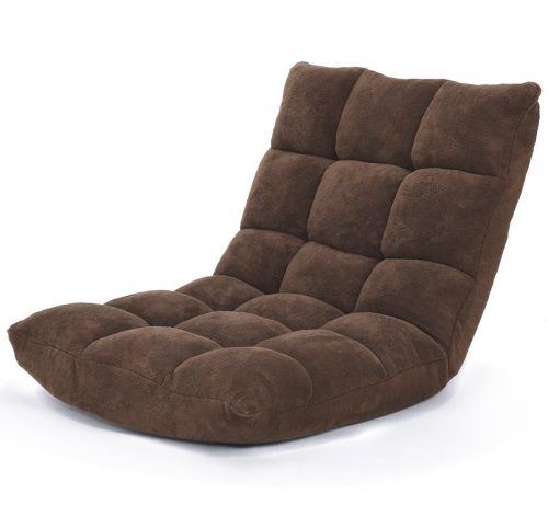 9. Giantex Floor Folding Gaming Sofa Chair Lounger Folding Adjustable Sleeper Bed Couch Recliner (Brown)