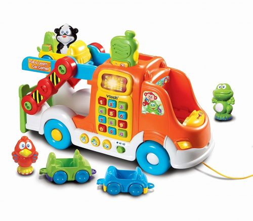 9. VTech Pull and Learn Car Carrier Pull
