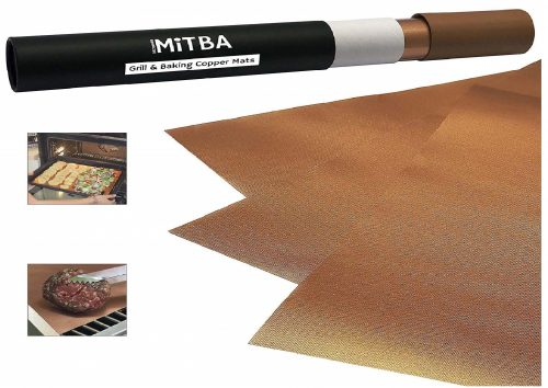 9.MiTBA Copper Grill Mats – Best Baking & Grilling Accessories Ever! These Non-Stick & Reusable Magic Gadgets Will Get You Flawless Meat and a Clean Barbecue!...
