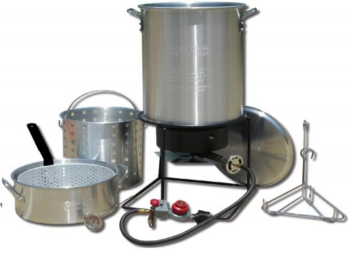 10. King Kooker 1265BF3 Portable Propane Outdoor Deep Frying/Boiling Package with 2 Aluminum Pots