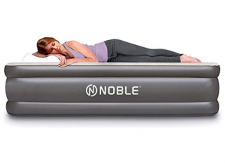 10.Noble-QUEEN-SIZE-Comfort-DOUBLE-HIGH-Raised-Air-Mattress-Top-Inflatable-Airbed-with-Built-in-Pump-Elevated-Raised-Air-Mattress-Quilt-Top-1-year-GUARANTEE