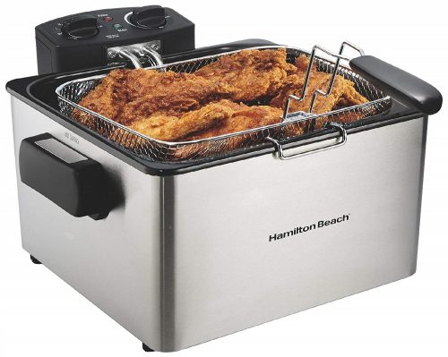 2. Hamilton Beach (35035) Deep Fryer, With Basket, 4.5 Liter Oil Capacity, Electric, Professional Grade