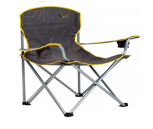 2. QuikShade 150239 Quik Chair Heavy Duty Folding Camp Chair – Grey
