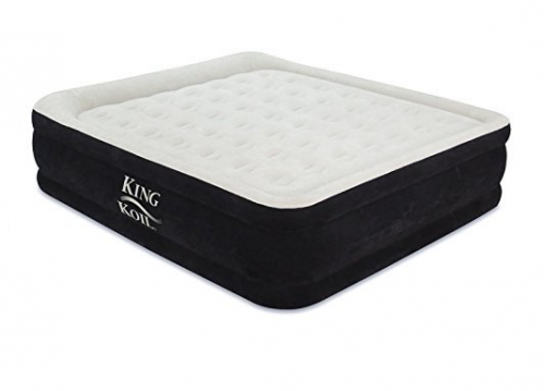4. King Koil California King Luxury Raised Airbed with Built-in 120V AC High Capacity Internal Pump