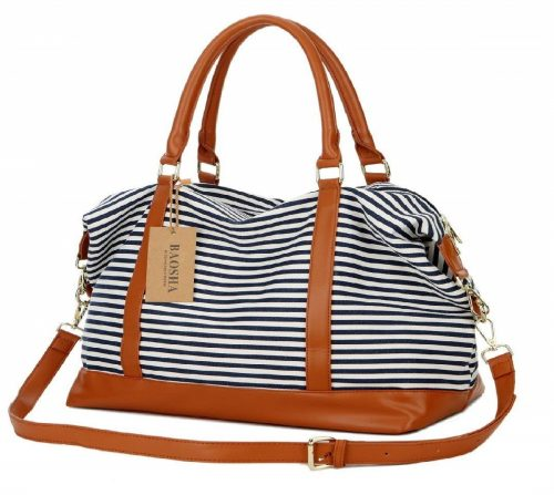4. BAOSHA HB-28 Ladies Canvas Travel Weekender Bag