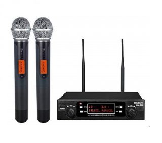 4.innopow 80-Channel Dual UHF Wireless Microphone System,Metal Cordless Mic set, Long Distance 200-240Ft Prevent Interference,16 Hours Continuous Use for...