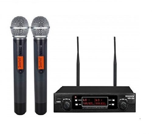 4. Innopow 80-Channel Dual UHF Wireless Microphone System