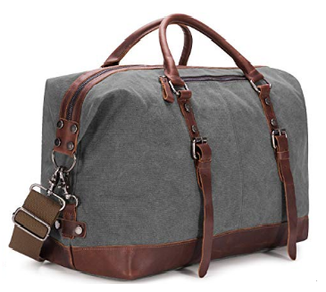 5. BAOSHA Canvas Weekender Overnight Bag