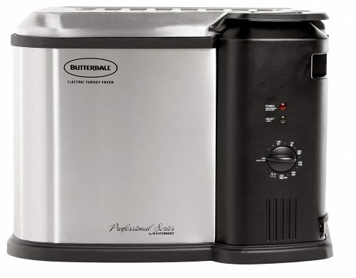 5. Butterball 23010115 MB23010118 Electric Fryer, Large, Stainless Steel/Black