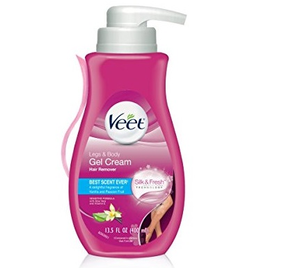 6. Veet Gel Hair Remover Cream, Sensitive Formula, 13.5 Ounce (Pack of 2)
