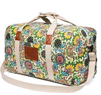 6. Malirona Canvas Weekender Bag